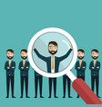 finding professional staff vector image