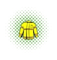 Firefighter jacket icon comics style vector image vector image