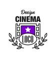 flat cinema or movie logo template design vector image vector image