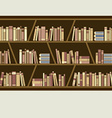 Flat Design Brown Bookshelf