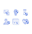 flat set of insurance icons health life vector image