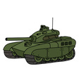 Funny green tank vector image vector image