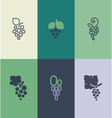 Grape with leaf Logo templates set