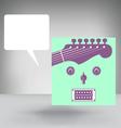 Guitar Face Concept vector image vector image