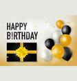 happy birth day with luxury present box vector image vector image