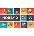 hobby - set of flat design infographics elements vector image vector image