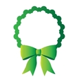 Isolated green tag vector image