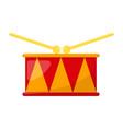 kid toy drum vector image vector image