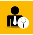 man silhouette business and searching design icon vector image