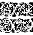 Maori tattoo set vector image vector image