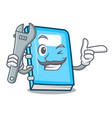 mechanic education mascot cartoon style vector image vector image
