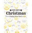 merry christmas and new year pattern background vector image vector image