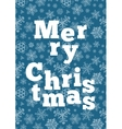 Merry Christmas background with snowflakes vector image vector image