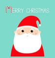 merry christmas santa claus face head icon candy vector image vector image