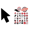 Mouse Cursor Flat Icon with Bonus vector image vector image