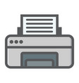 printer colorful line icon fax and office vector image