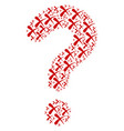 question mark shape of erase icons vector image vector image