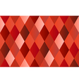 Red Diamond Polygon Background vector image
