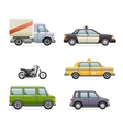 Retro Car Icons Set Realistic Design vector image vector image