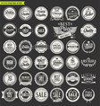 retro vintage badges and labels collection 3 vector image vector image