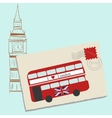 Romantic Letter to London vector image