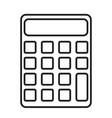 school student concept calculator icon eps10 vector image
