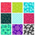 Seamless doodle patterns set vector image