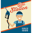 service station vector image vector image