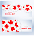 set of canada day banners vector image