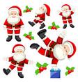 set of different santas vector image