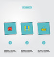 set of immovable icons flat style symbols with vector image vector image