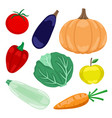 set vegetables and fruits vector image vector image