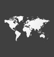 simple blank map of the world vector image