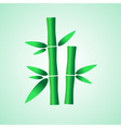 simple green bamboo plant leaves icon eps10 vector image vector image
