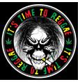 skull reggae tee graphic design vector image