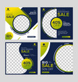 social media post template banners ad vector image vector image