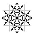 star ertsgamma amulet ancient christian talisman vector image