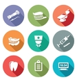 Stomatology Icons Set vector image vector image