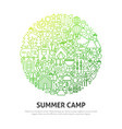 summer camp circle concept vector image vector image
