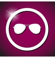 sun glasses icon vector image vector image