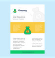 template layout for money bag comany profile vector image