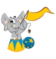 Trained elephant vector image