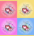 valentine day vintage design element vector image vector image