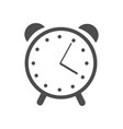 web icon alarm clock vector image