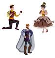 king a prince and a princess vector image