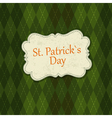 st patrick days background vector image