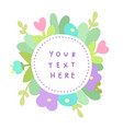 cute flowers template vector image