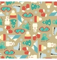 Seamless line pattern with winter elements vector image