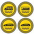 set round taxi icons vector image