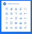 25 house icons vector image vector image